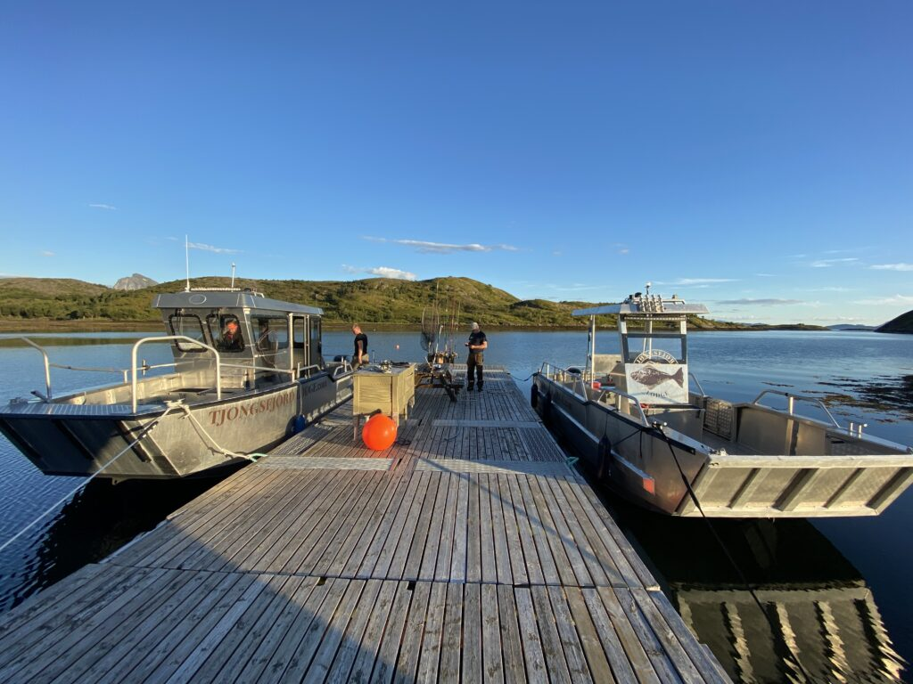 Safe and comfortable fishing boats of Tjongsfjord Lodge