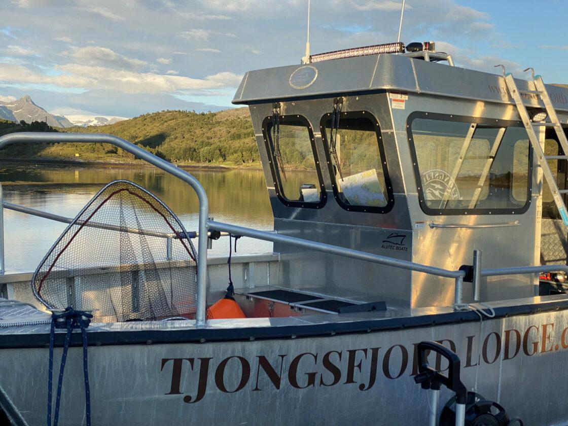 Tjongsfjord Lodge's safest boat in a fishing industry